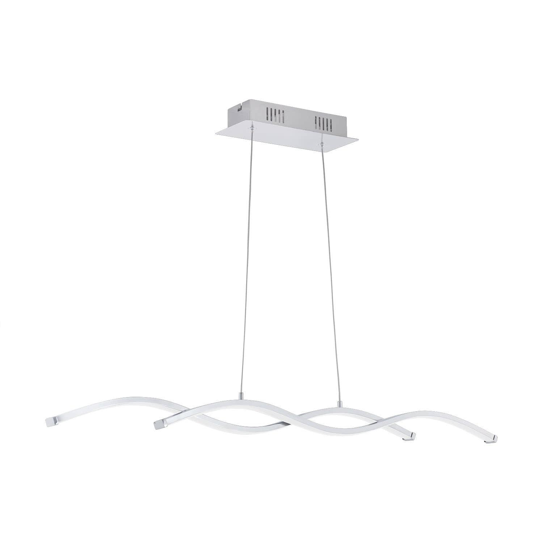 eglo 96103 lasana 2 led pendelleuchte 2x9w wellen design chrom. Black Bedroom Furniture Sets. Home Design Ideas