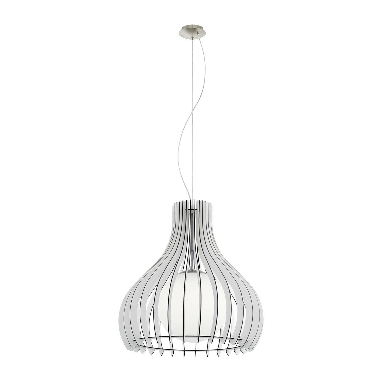 eglo 96211 tindori pendelleuchte e27 50cm holz glas weiss. Black Bedroom Furniture Sets. Home Design Ideas