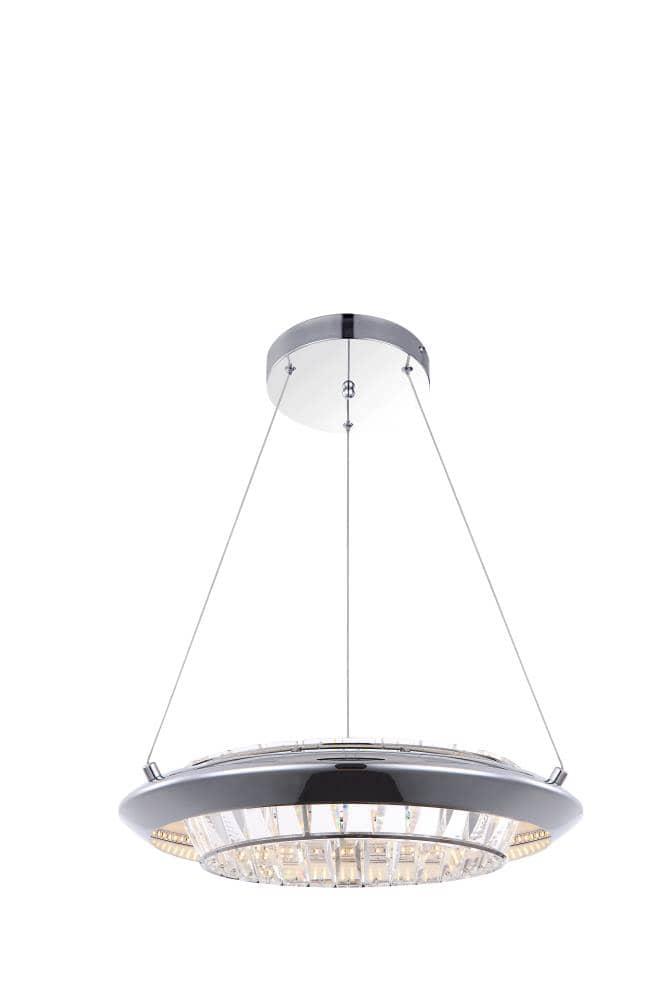 globo led h ngeleuchte 30w 40cm dimmbar chrom online kaufen. Black Bedroom Furniture Sets. Home Design Ideas