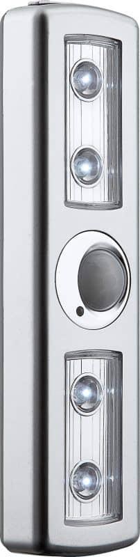 globo spooky 42420s led unterbauleuchte mit sensor 4x leds weiss ebay. Black Bedroom Furniture Sets. Home Design Ideas