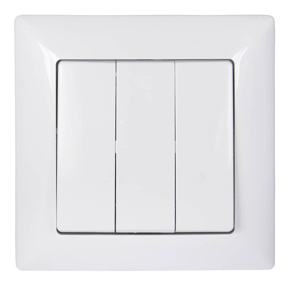 gunsan visage 3 fach schalter serienschalter unterputz weiss. Black Bedroom Furniture Sets. Home Design Ideas