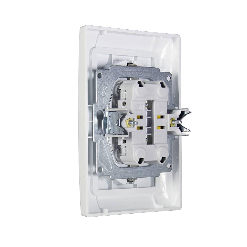 Gunsan Moderna 2-fach Steckdose Unterputz Komplett Weiss 01291100100150
