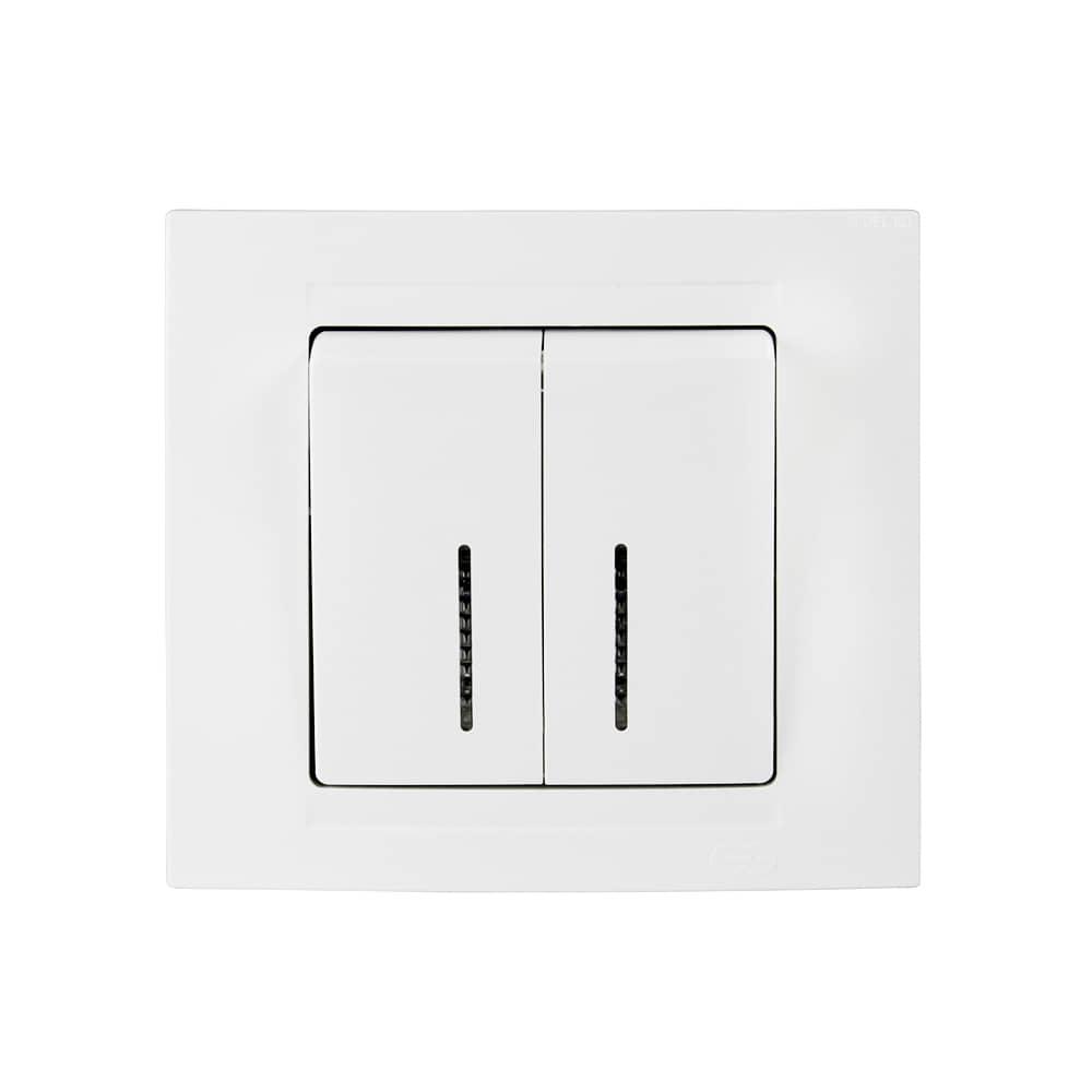 gunsan moderna 2 fach serienschalter beleuchtung jetzt kaufen. Black Bedroom Furniture Sets. Home Design Ideas