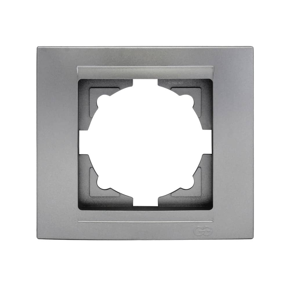 Gunsan Moderna 1-fach Rahmen für 1 Steckdose Silber - hier kaufen