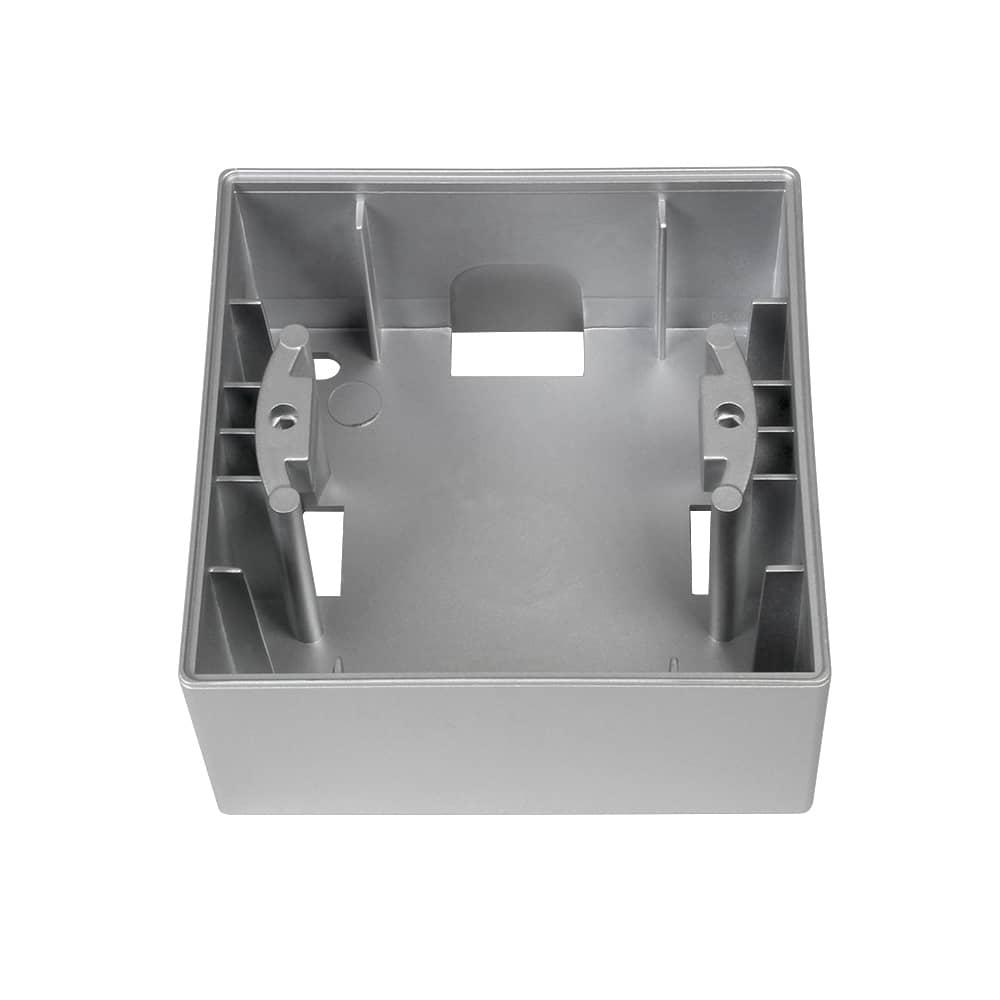 Gunsan Moderna 1-fach Rahmen Aufputzgehäuse Silber - hier kaufen