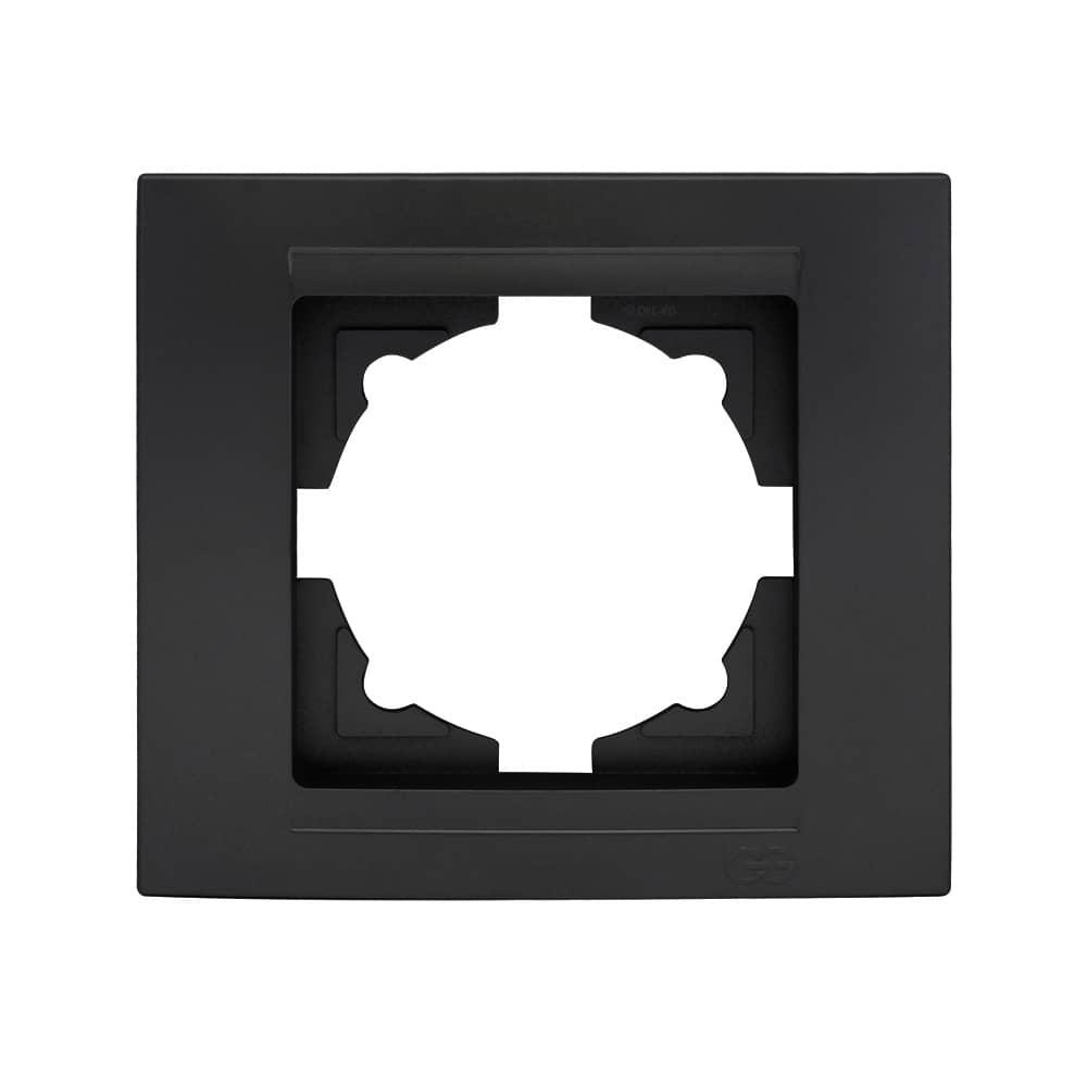 Gunsan Moderna 1fach Rahmen 1 Steckdose Schwarz online kaufen