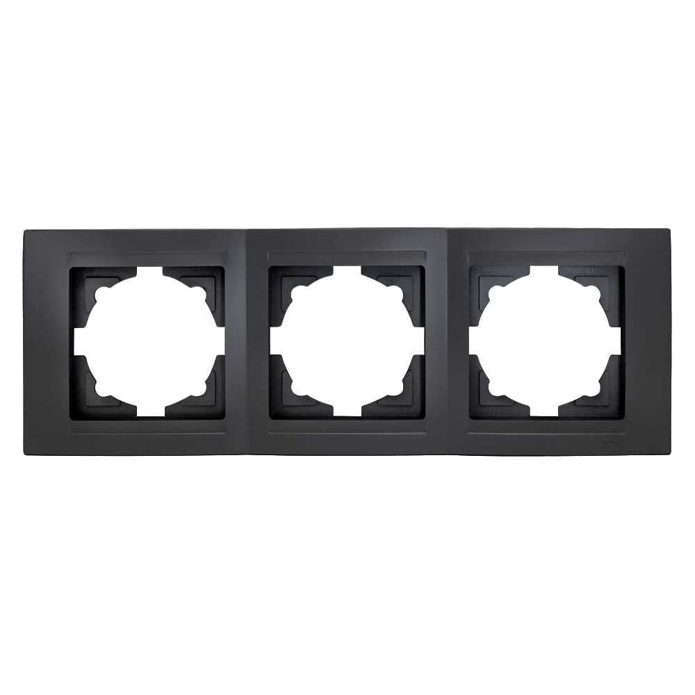 Gunsan Moderna 3-fach Rahmen für 3 Steckdosen Schwarz online kaufen