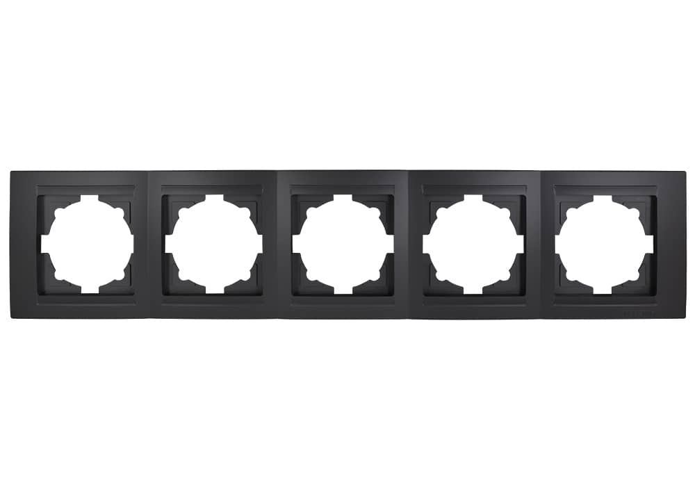Gunsan Moderna 5-fach Rahmen für 5 Steckdosen Schwarz hier bestellen