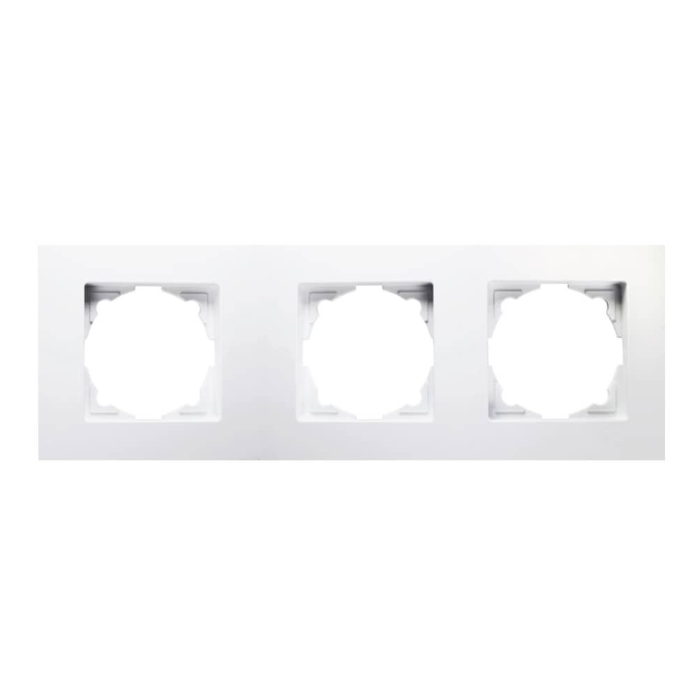 Eqona 3-fach Rahmen für 3 Steckdosen Schalter Weiss