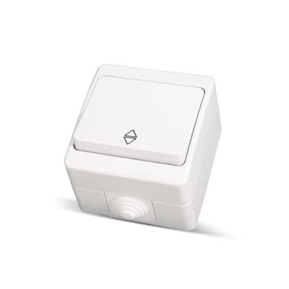 ip54 2 wege schalter wechselschalter feuchtraum aufputz weiss ebay. Black Bedroom Furniture Sets. Home Design Ideas
