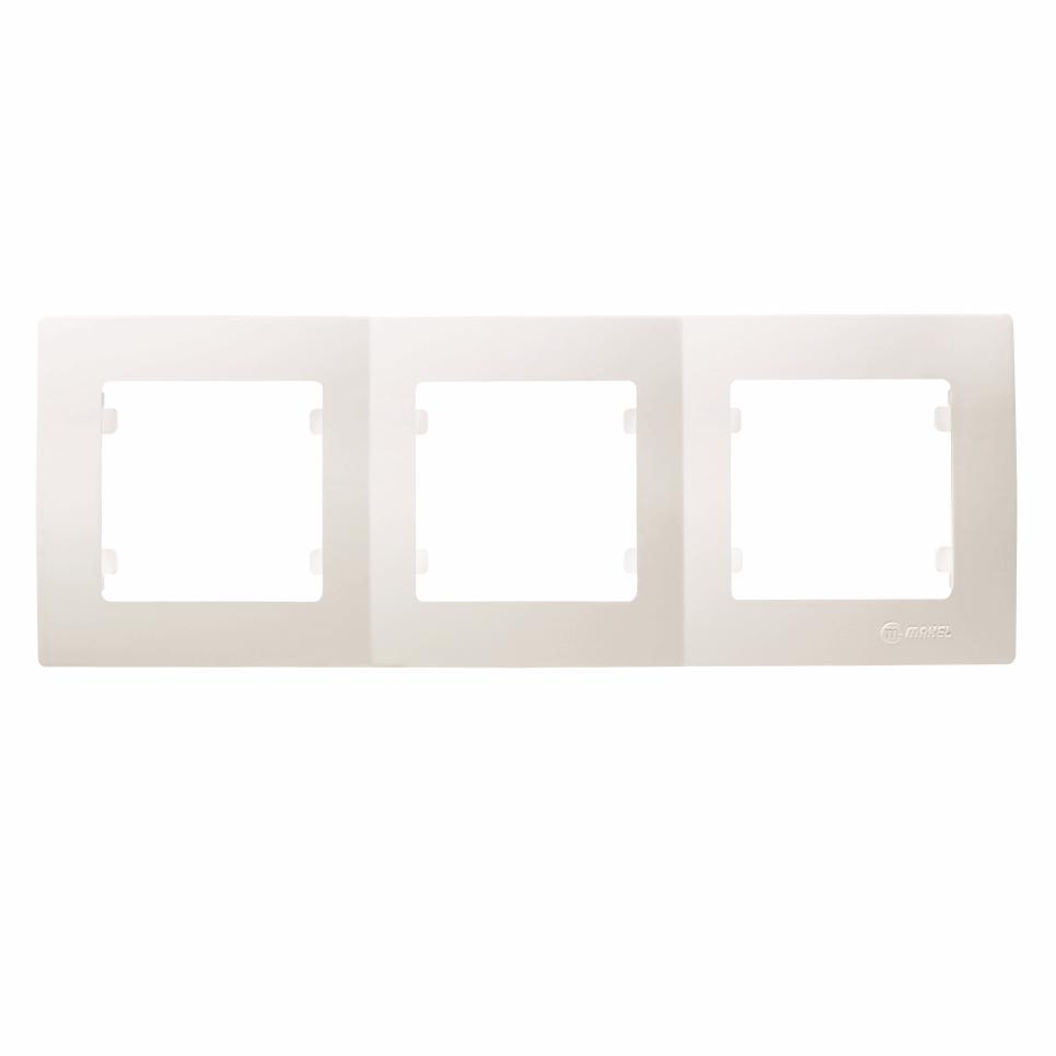 Makel Lilium Natural Kare 3-fach Rahmen horizontal weiss