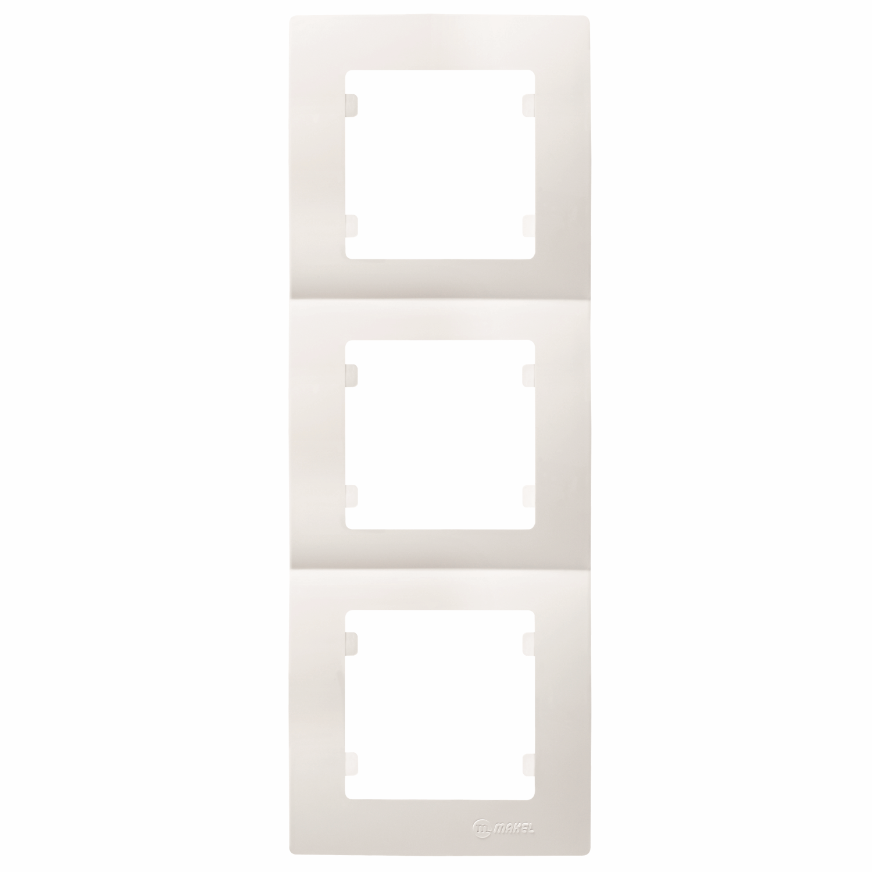 Makel Lilium Natural Kare 3-fach Rahmen vertikal weiss