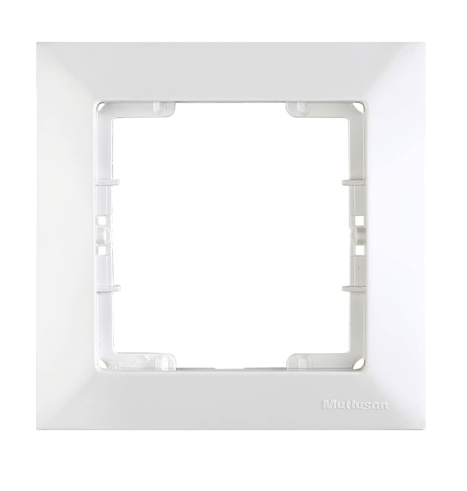 mutlusan candela 1 fach rahmen f r 1 steckdose schalter dimmer weiss. Black Bedroom Furniture Sets. Home Design Ideas