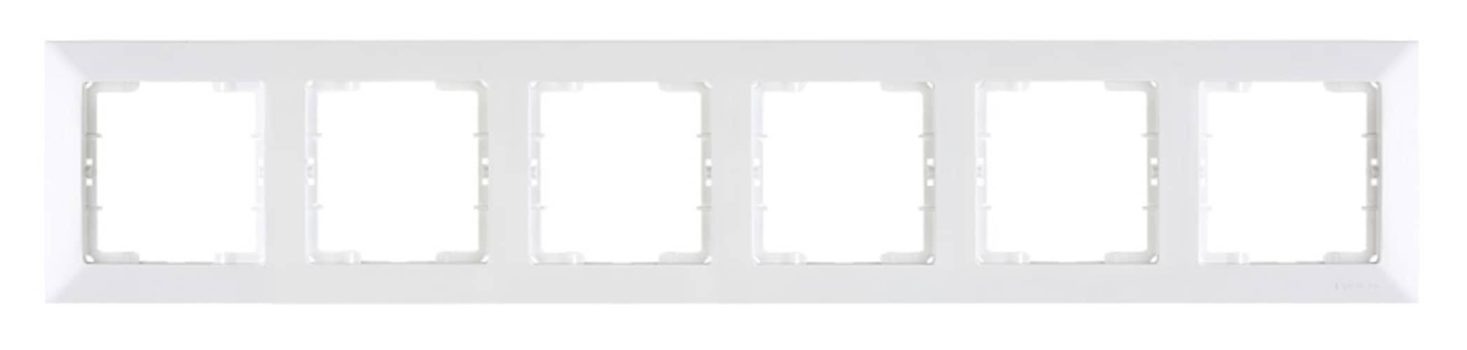 Mutlusan Candela 6-fach Rahmen horizontal weiss für 6 Module