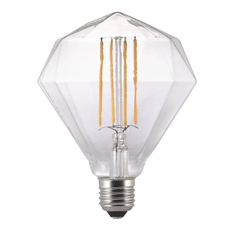 Nordlux E27 LED Design-Lampe Avra Diamant Filament 2W warmweiss
