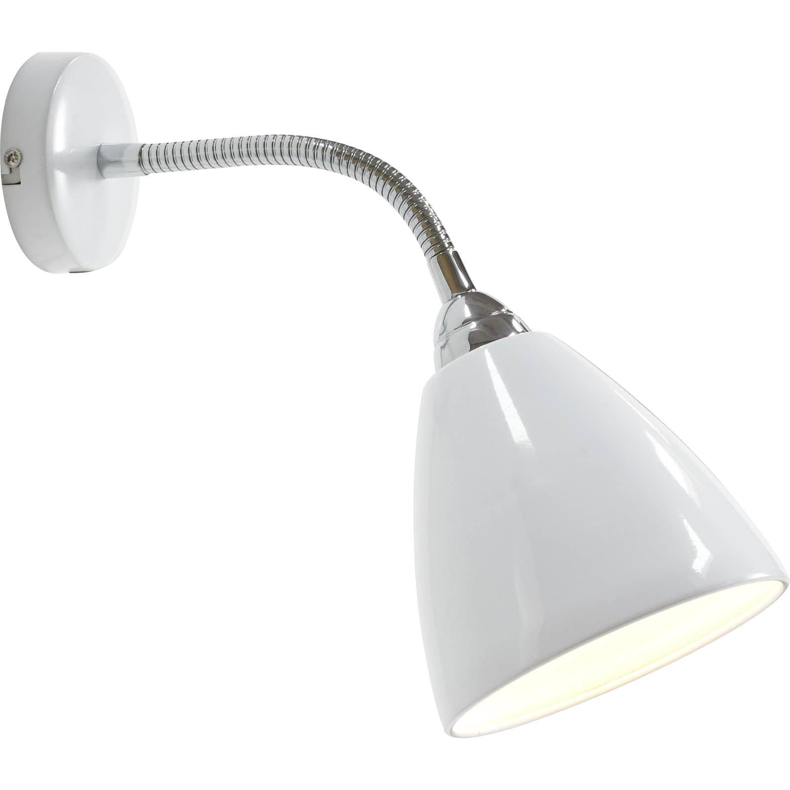 Nordlux 75301001 read flex wandleuchte e14 metall weiss for Nordlux leuchten