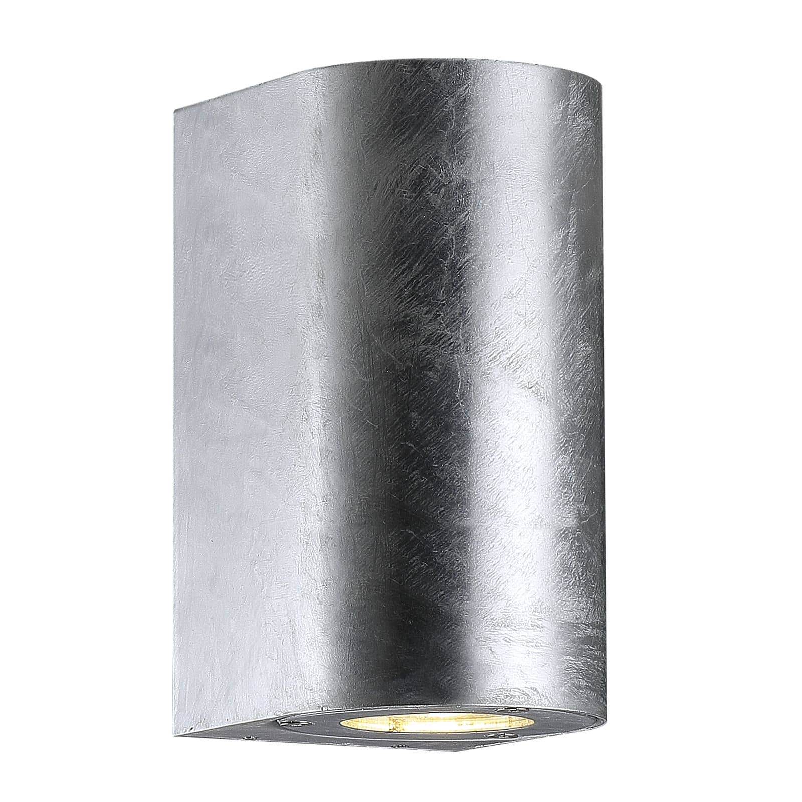 Nordlux 77561031 Canto Maxi Wandleuchte 2xGU10 Metall Glas Verzinkt IP44 -> Nordlux Led Wandleuchte Canto Edelstah