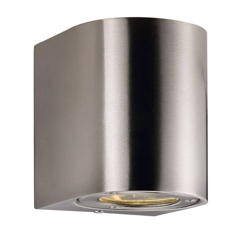 nordlux led wandleuchte canto 2x5w edelstahl mit lichtfilter. Black Bedroom Furniture Sets. Home Design Ideas