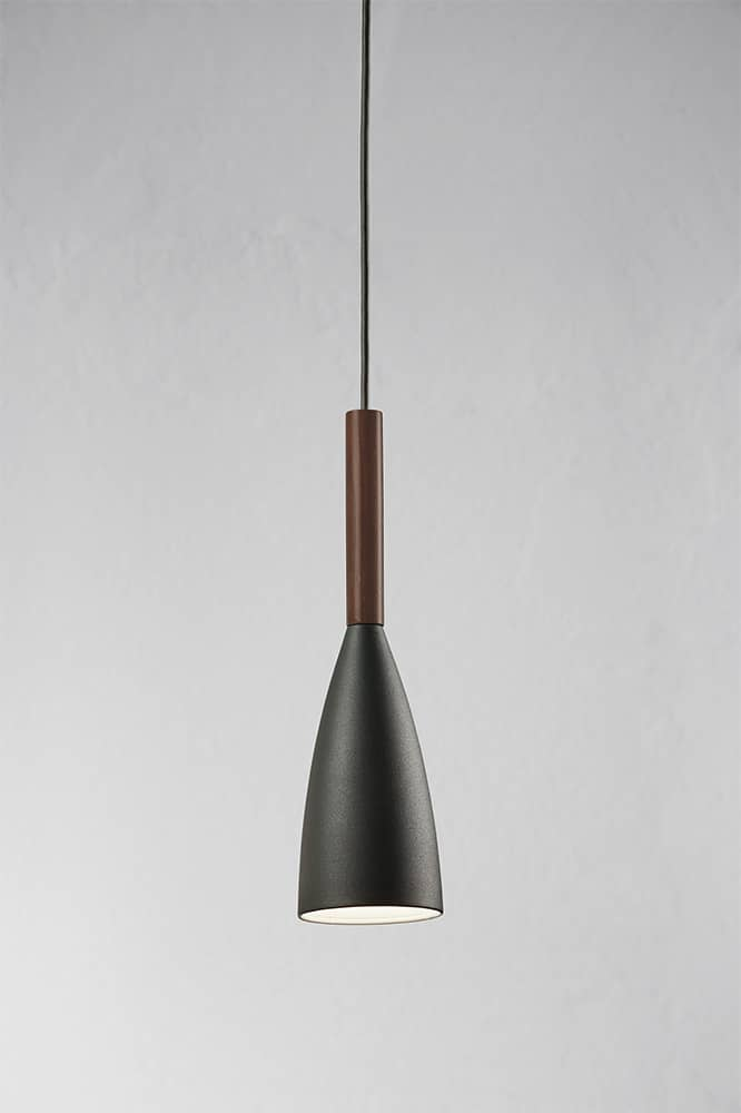 Nordlux h ngeleuchte pure graues metall walnussholz for Nordlux leuchten