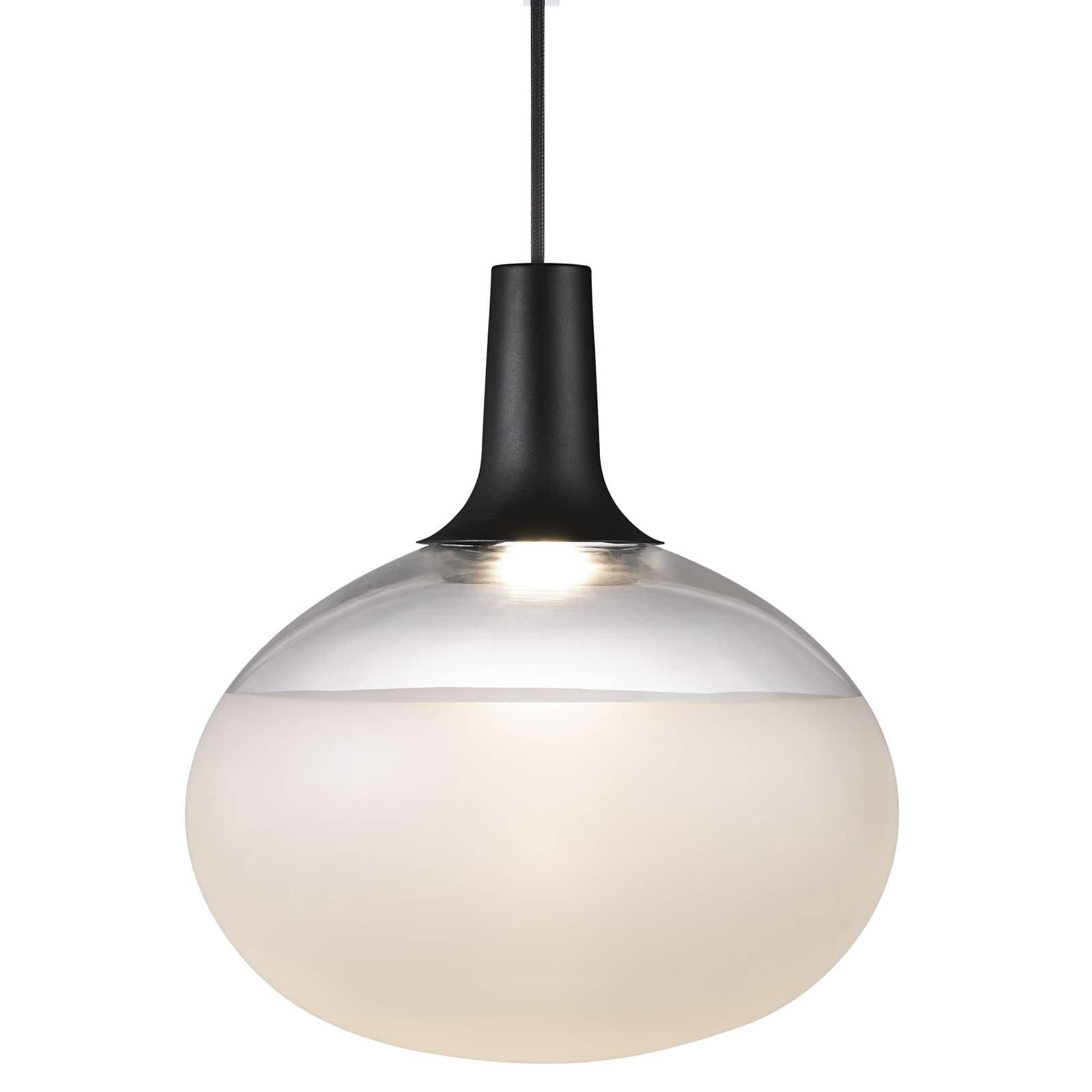 nordlux 84383003 dee led pendelleuchte 13w glas schwarz. Black Bedroom Furniture Sets. Home Design Ideas