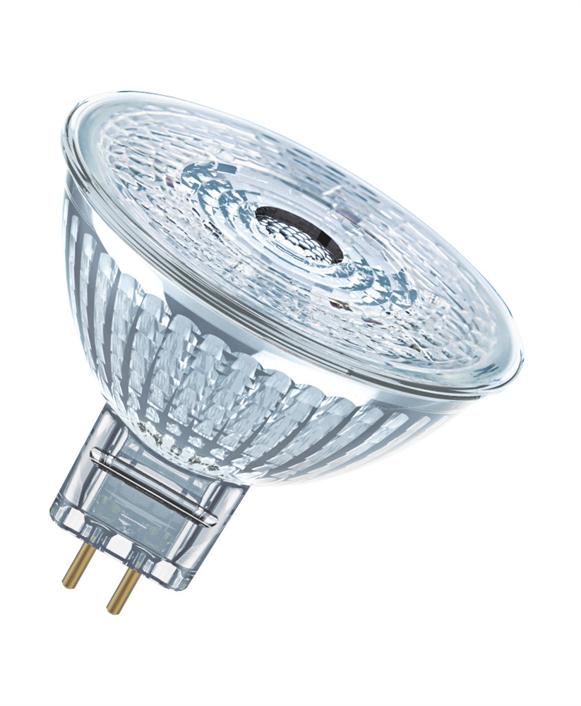 osram gu5 3 led spot superstar 5w 350lm warmweiss glas. Black Bedroom Furniture Sets. Home Design Ideas