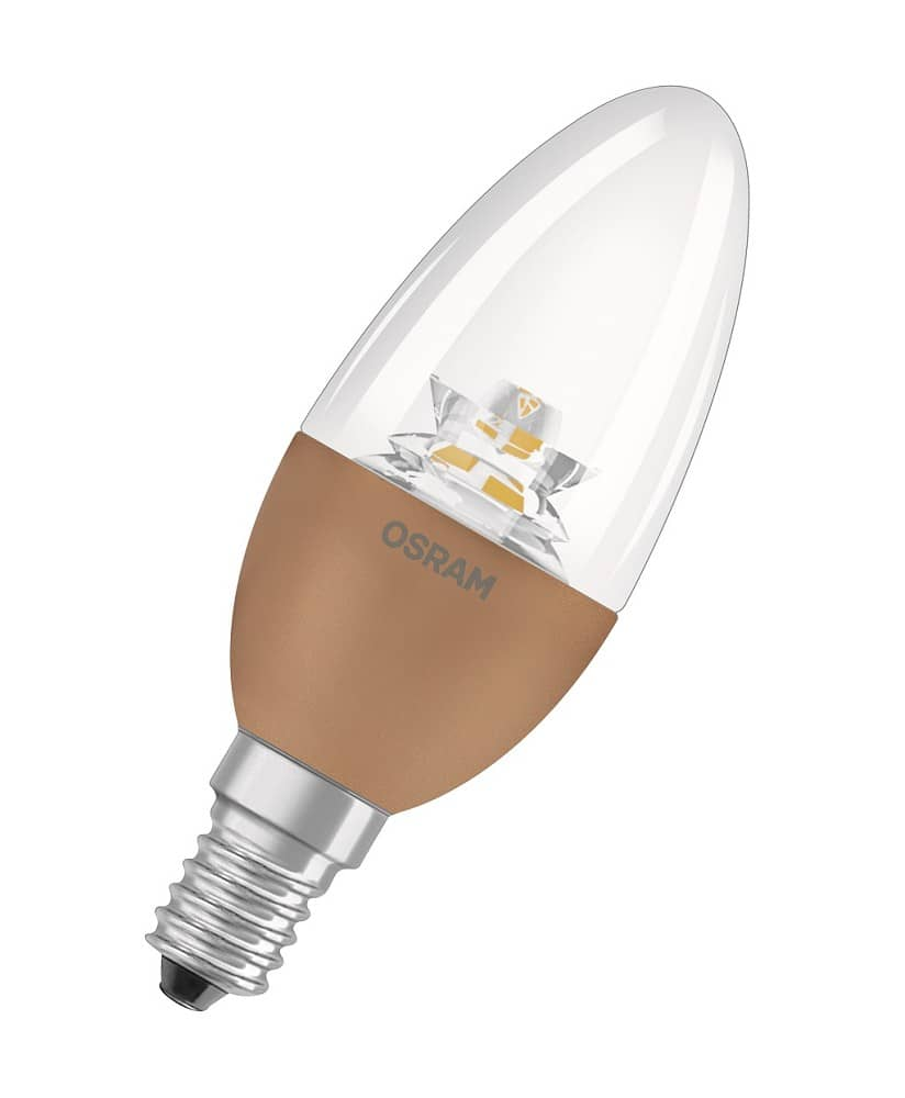 osram e14 led kerze superstar b40 5 7w 470lm dimmbar warmweiss ebay. Black Bedroom Furniture Sets. Home Design Ideas