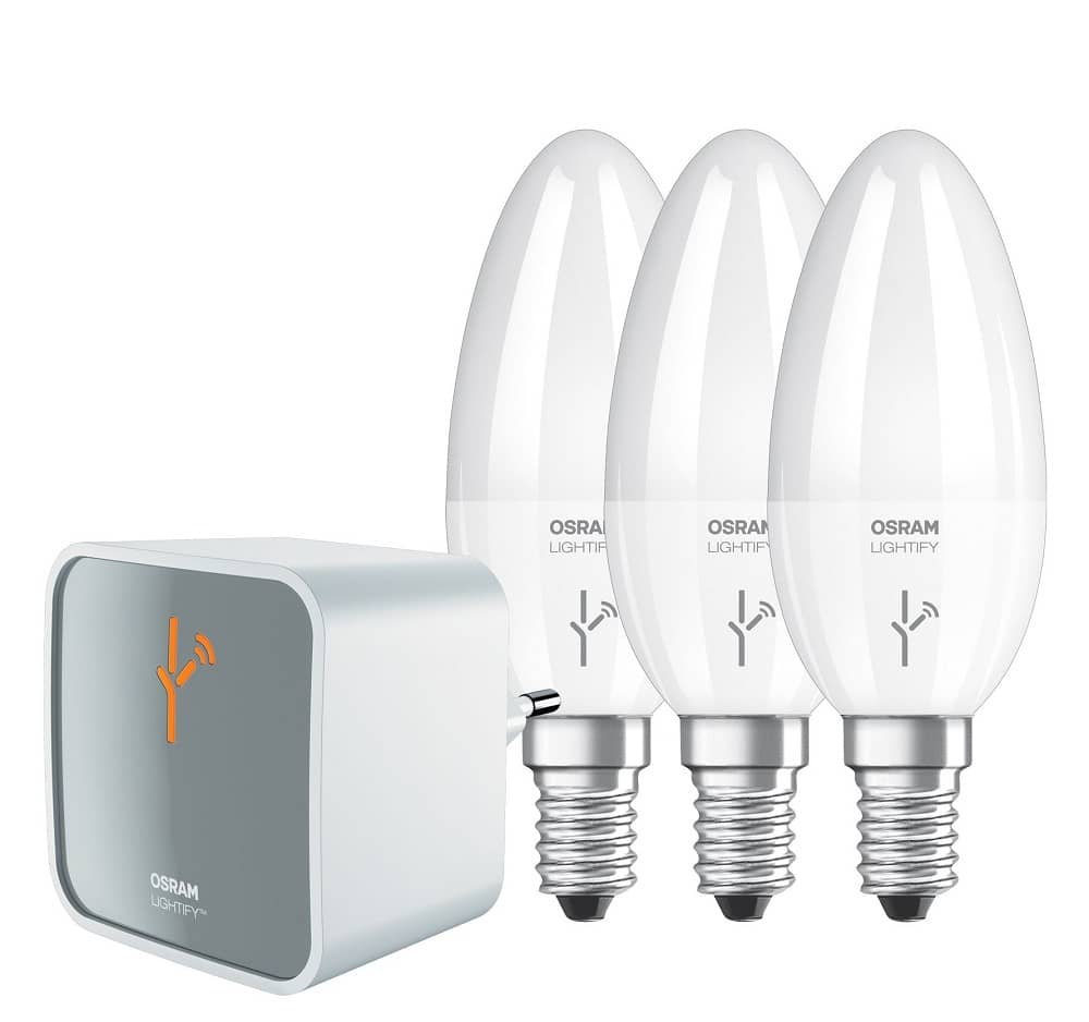 osram lightify work balax kit gateway 3x e14 led kerzen. Black Bedroom Furniture Sets. Home Design Ideas
