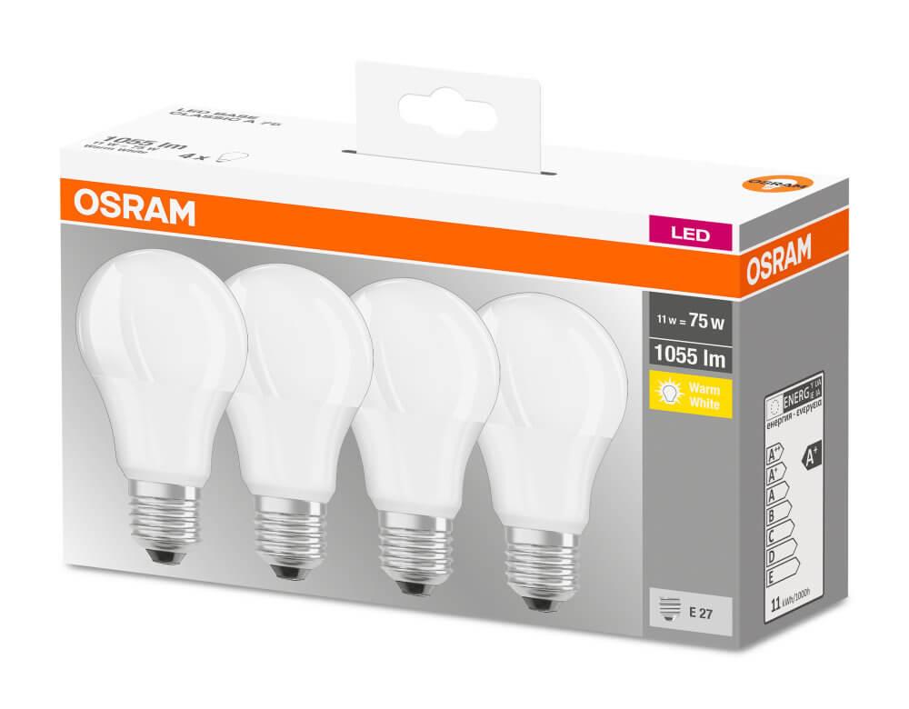 3er Pack Osram LED Lampe BASE Classic P 4W neutralweiss E27 wie 40W