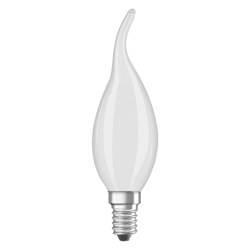 LED Filament Frosted E14 Kerze 4W 400Lm warmweiss Windstoß geschwungen matt
