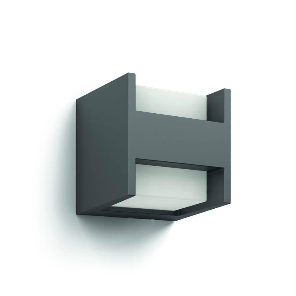philips led wandleuchte arbour anthrazit 16459 93 16. Black Bedroom Furniture Sets. Home Design Ideas