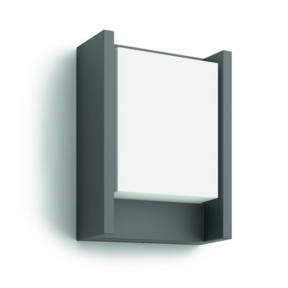 philips led mygarden wandleuchte arbour 6w anthrazit 16460. Black Bedroom Furniture Sets. Home Design Ideas