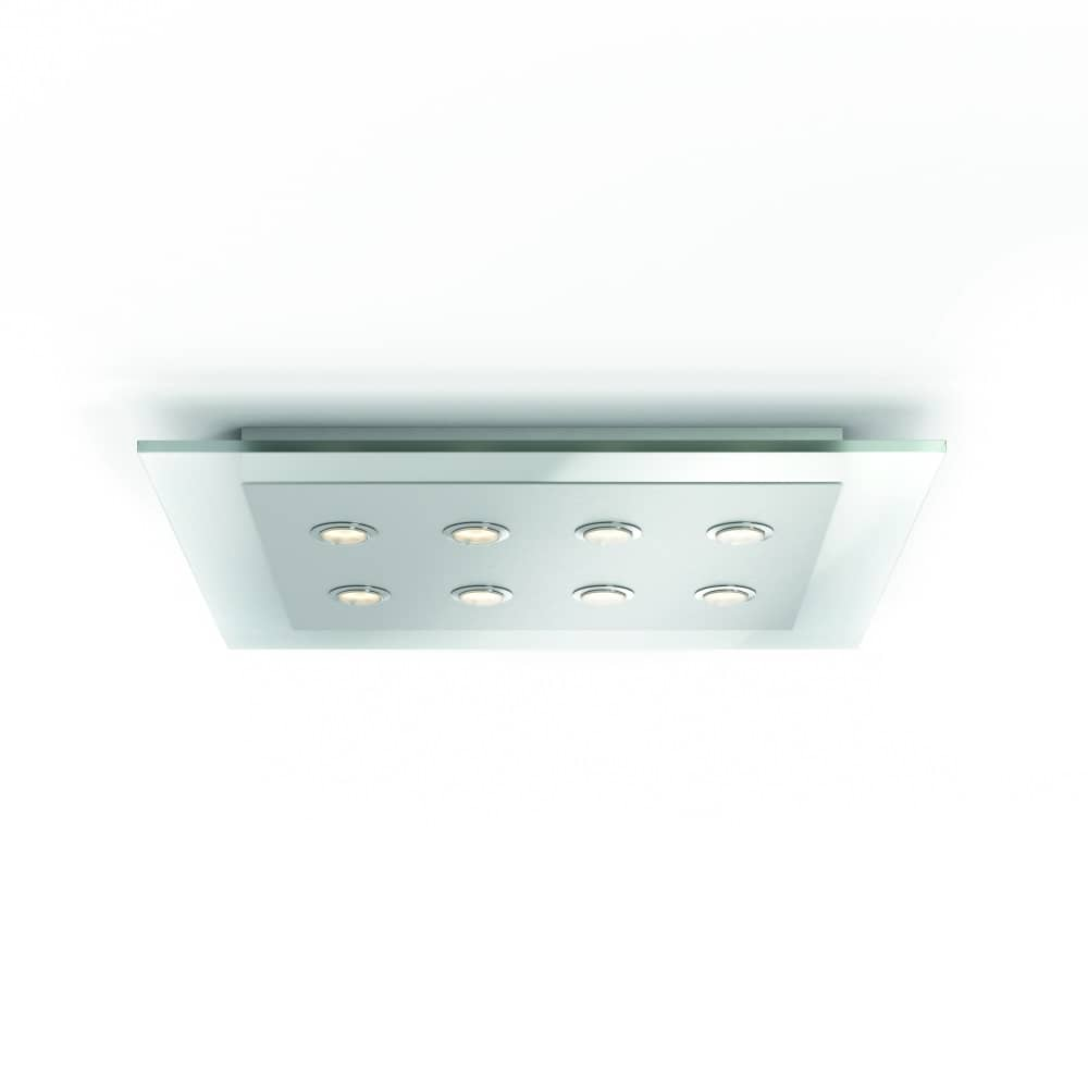 philips led matrix deckenleuchte 8x4 5w nickel409296016. Black Bedroom Furniture Sets. Home Design Ideas