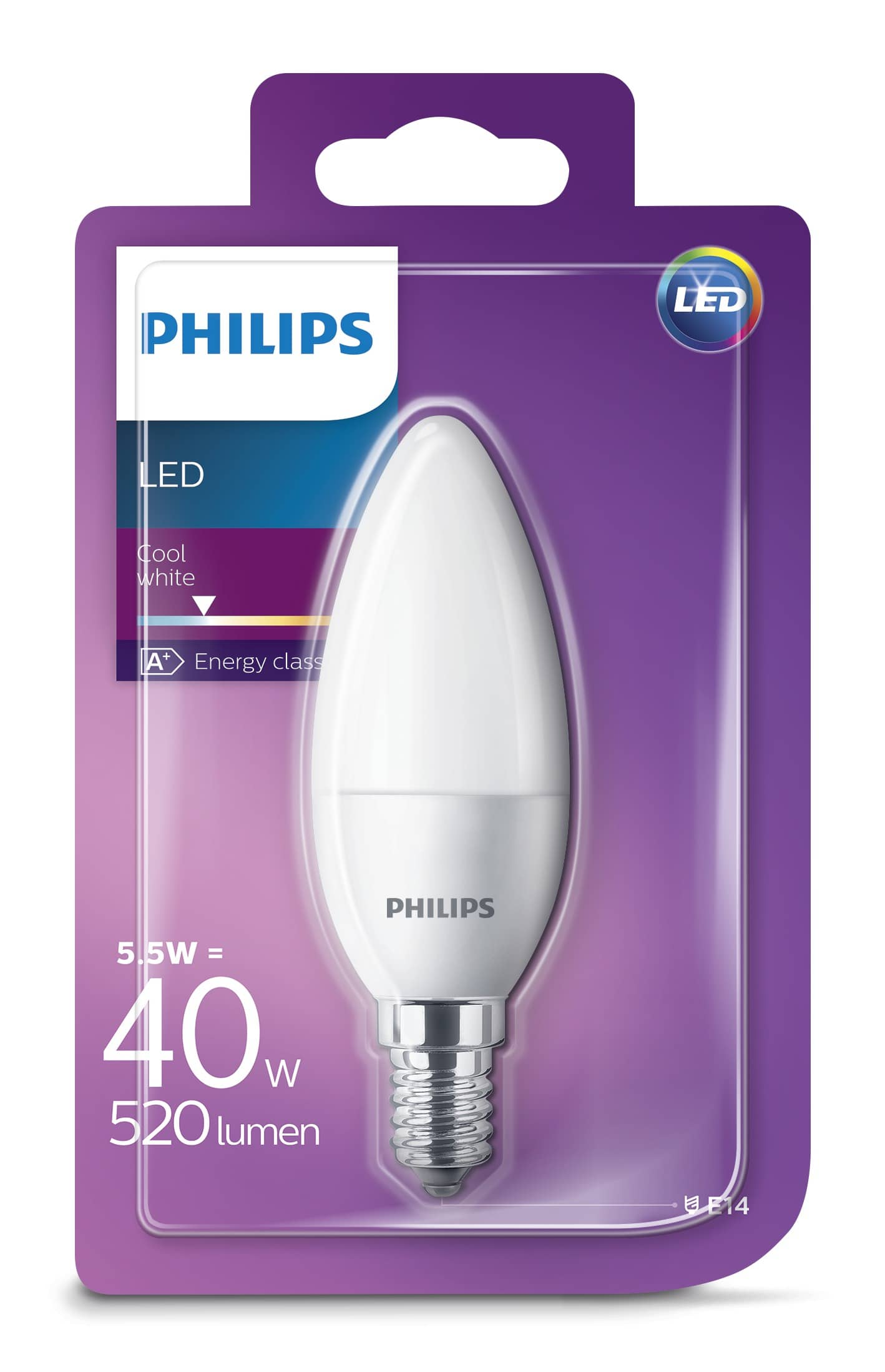 philips e14 led kerze 5 5w 520lm neutralweiss hier kaufen. Black Bedroom Furniture Sets. Home Design Ideas