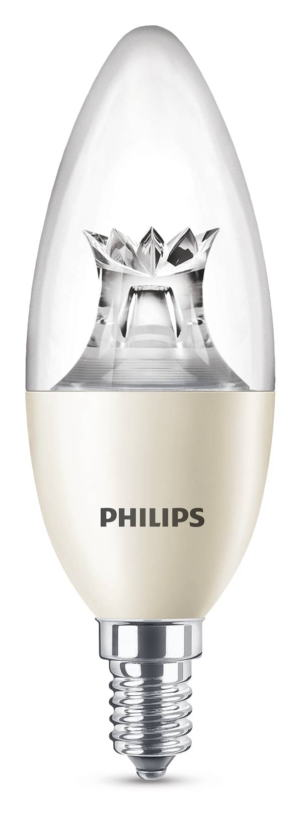 philips e14 led kerze warmglow 8w 806lm warmweiss dimm klar. Black Bedroom Furniture Sets. Home Design Ideas