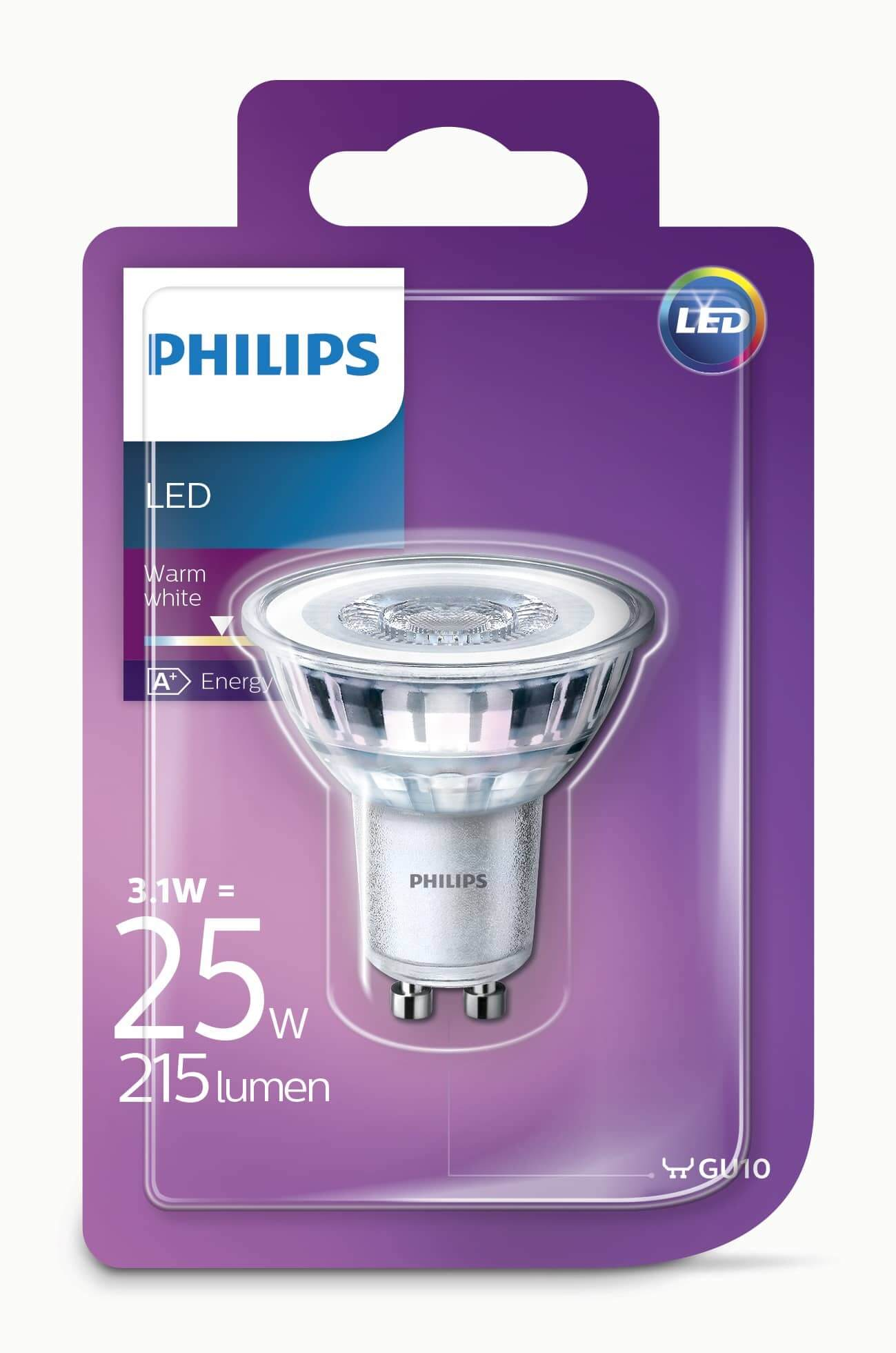 philips gu10 led spot ledclassic 3 1w 215lm warmweiss hier kaufen. Black Bedroom Furniture Sets. Home Design Ideas