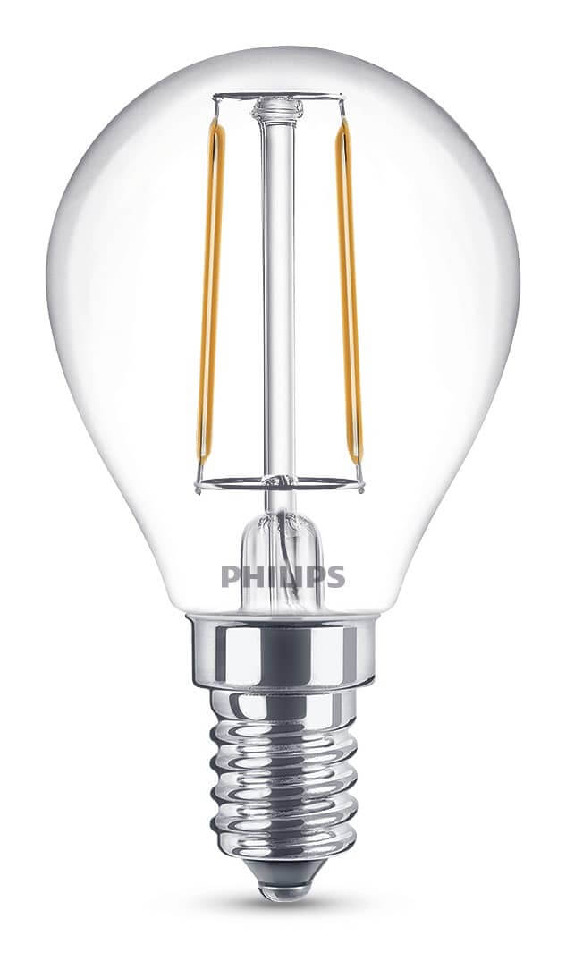 philips e14 led tropfen filament 2w 250lm warmweiss online kaufen. Black Bedroom Furniture Sets. Home Design Ideas