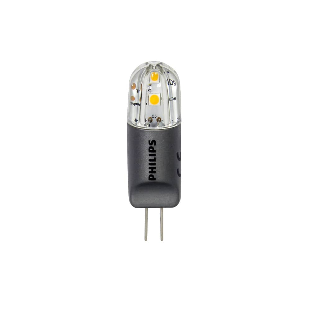 Philips g4 ledcapsule corepro 12v 2w 200lm dimmbar warmweiss for Led lampen 12v