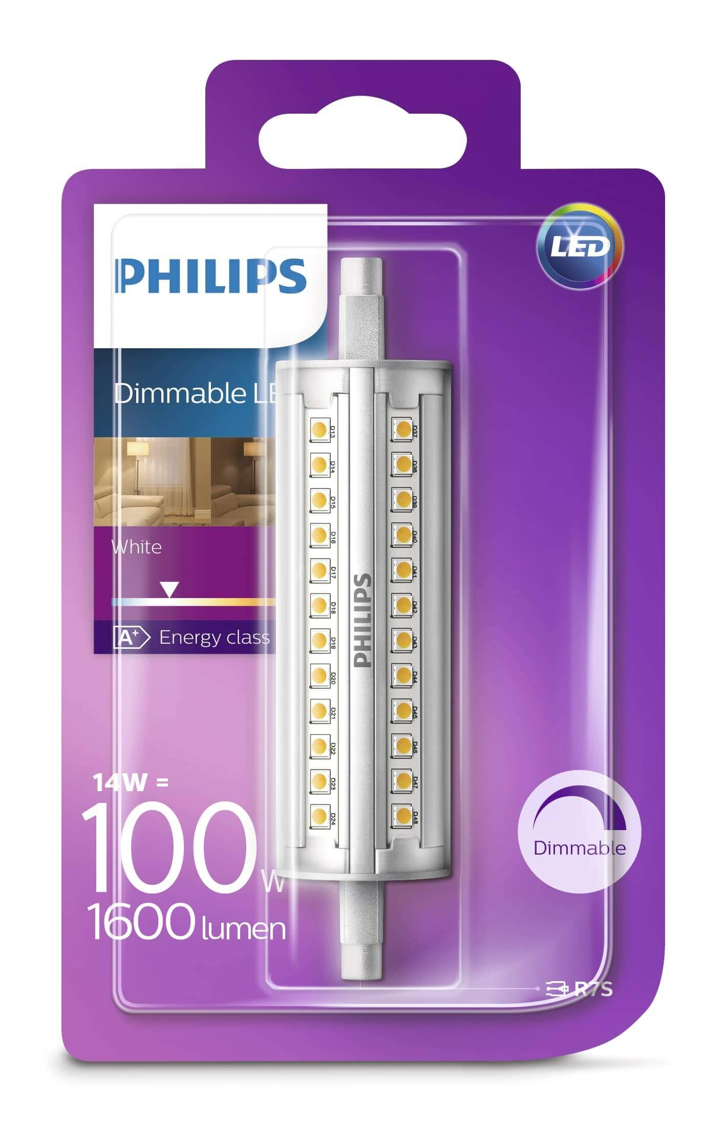 Philips 8718696578735 r7s led stablampe 14w 1600lm for Lampadine led r7s