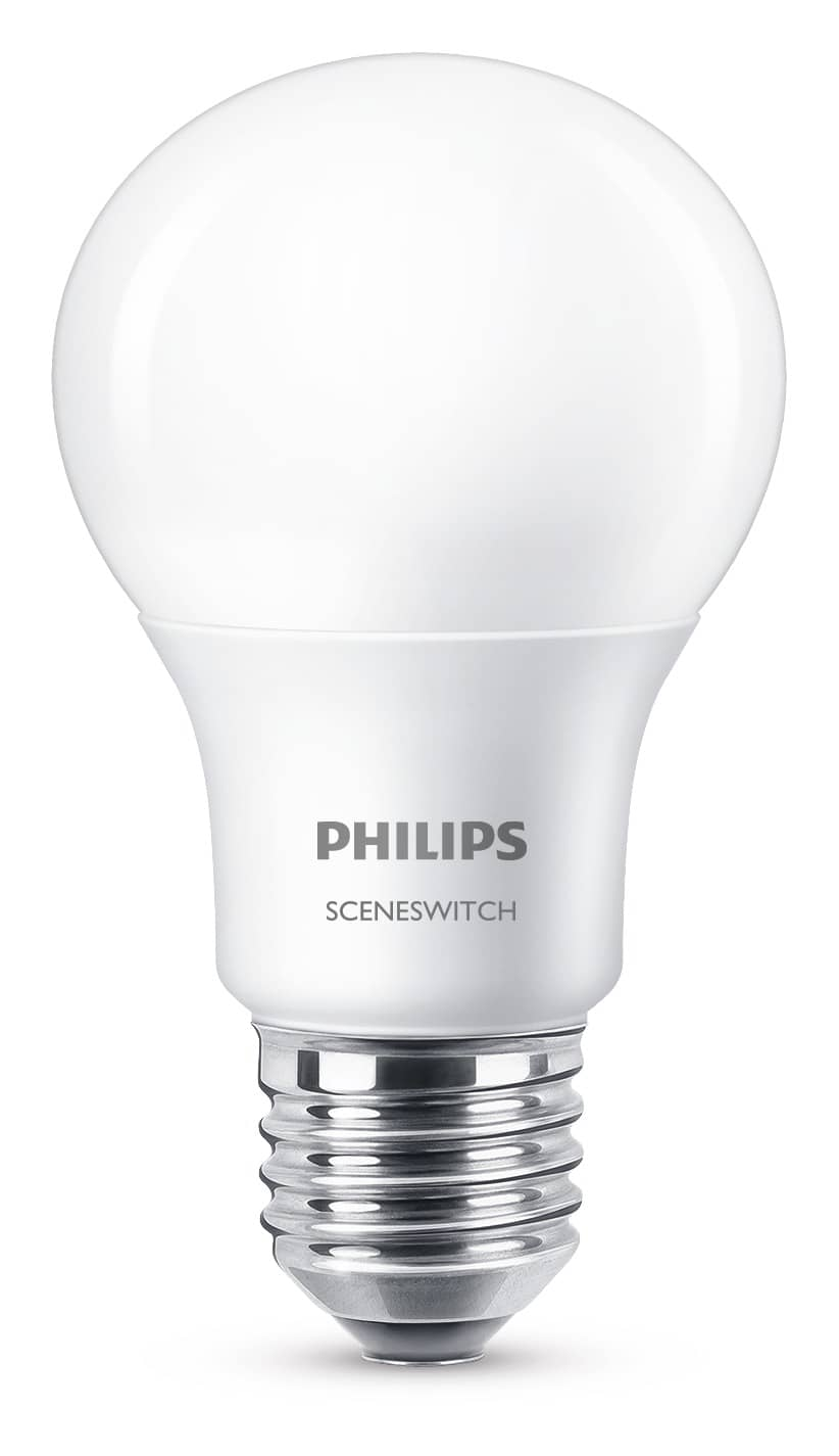 philips e27 led lampe sceneswitch 8w 806lm warmweiss jetzt. Black Bedroom Furniture Sets. Home Design Ideas