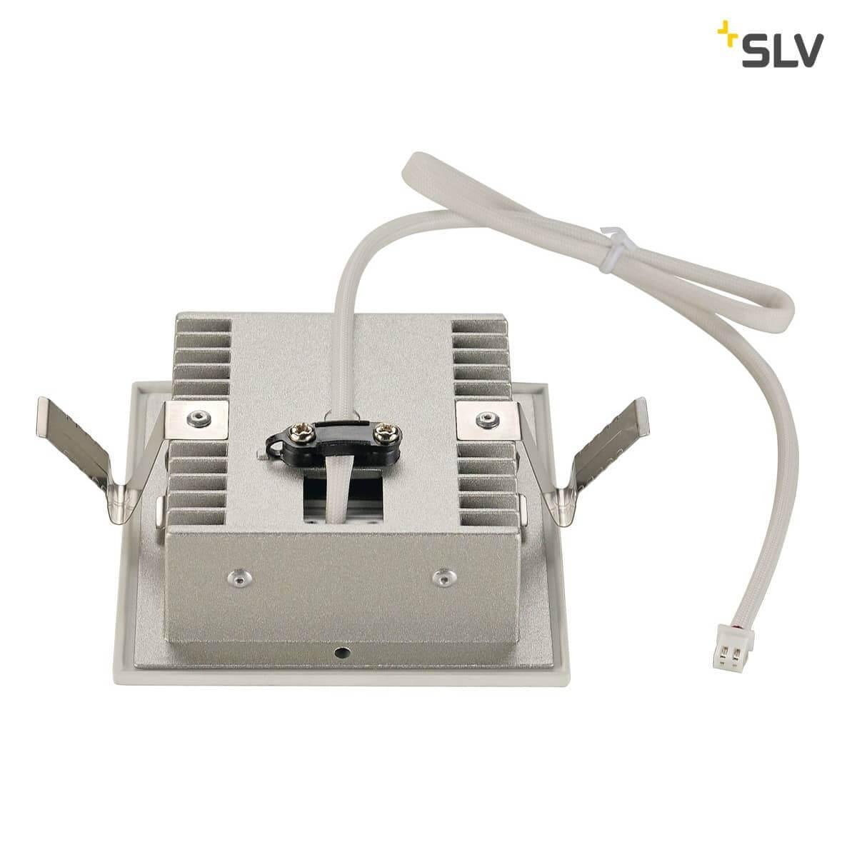 SLV 9 FRAME CURVE LED Einbauleuchte eckig mattweiss warmweisse