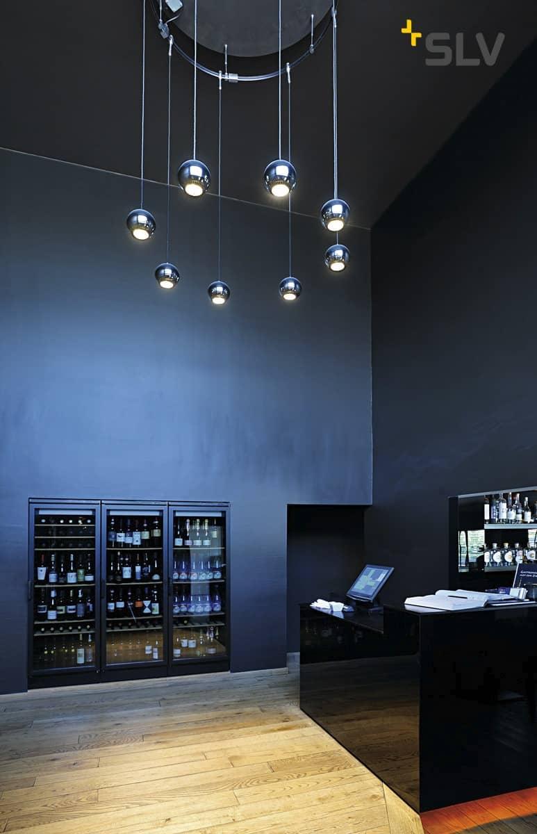 ES111 SLV LIGHT EYE PENDEL für EASYTEC II chrom//schwarz
