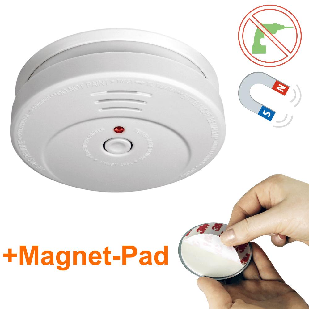 smartwares rauchmelder rm149 inkl batterie magnet pad. Black Bedroom Furniture Sets. Home Design Ideas