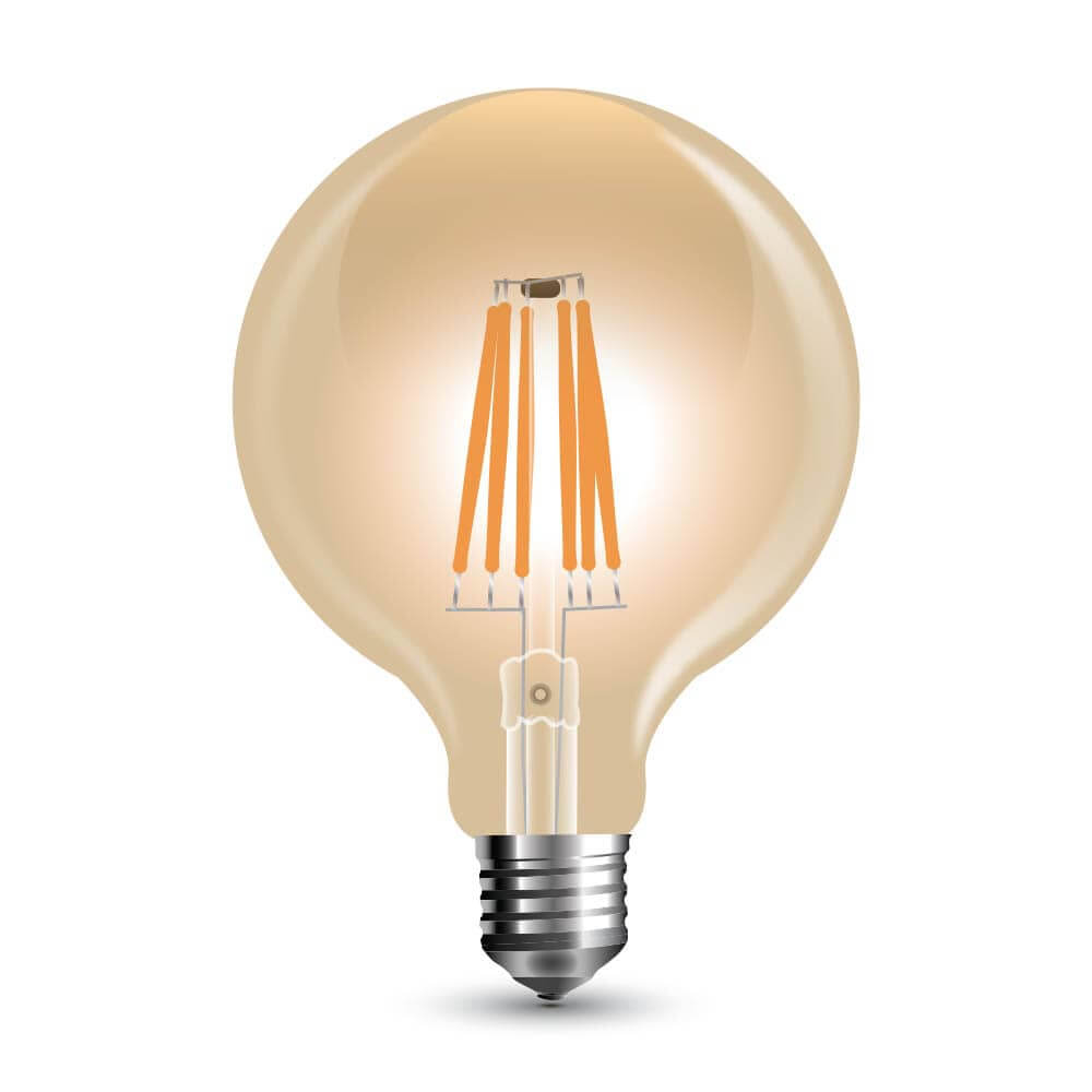 led filament e27 globe 6w 600lm vintage warmweiss dimmbar. Black Bedroom Furniture Sets. Home Design Ideas