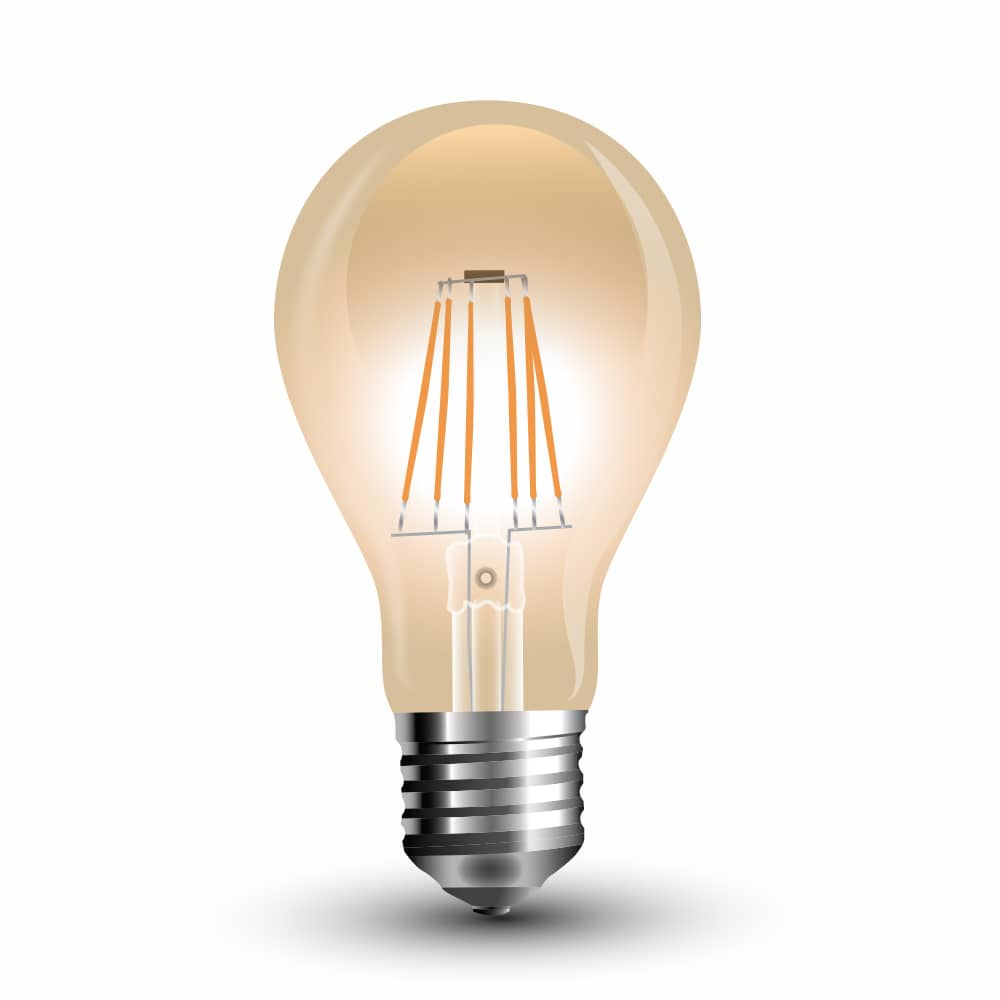 Led filament e27 lampe 4w 350lm a60 extra warmweiss amber gold - Lampe led e27 ...