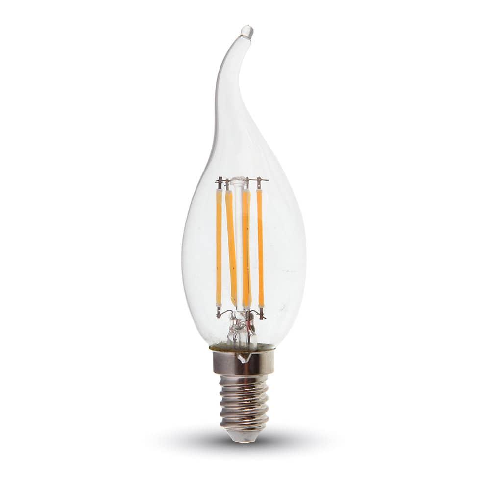 led filament e14 kerze 4w 320lm warmweiss dimmbar windsto. Black Bedroom Furniture Sets. Home Design Ideas