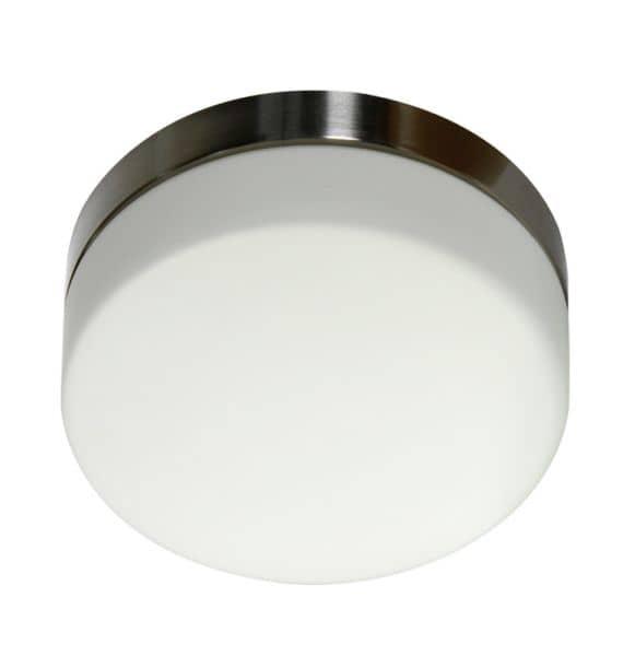 Led deckenleuchte innenleuchte rund 19cm glas edelstahl for Deckenlampe rund led