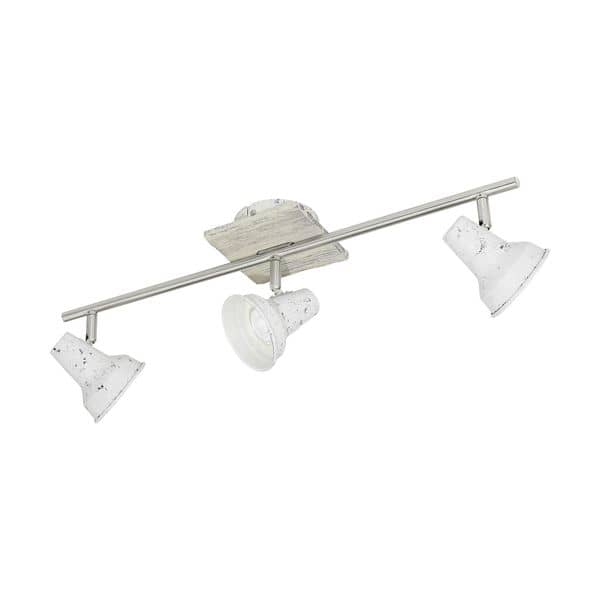Eglo 95644 Filipina 1 LED Spot 3x3,3W Stahl Holz Weiss