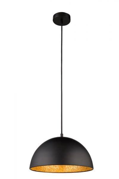 globo h ngeleuchte okko e27 schwarz gold einfach und bequem bestellen. Black Bedroom Furniture Sets. Home Design Ideas