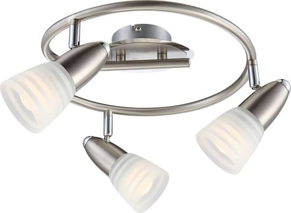Globo 54536-3 Caleb LED Deckenleuchte 12W Nickel matt warmweiss