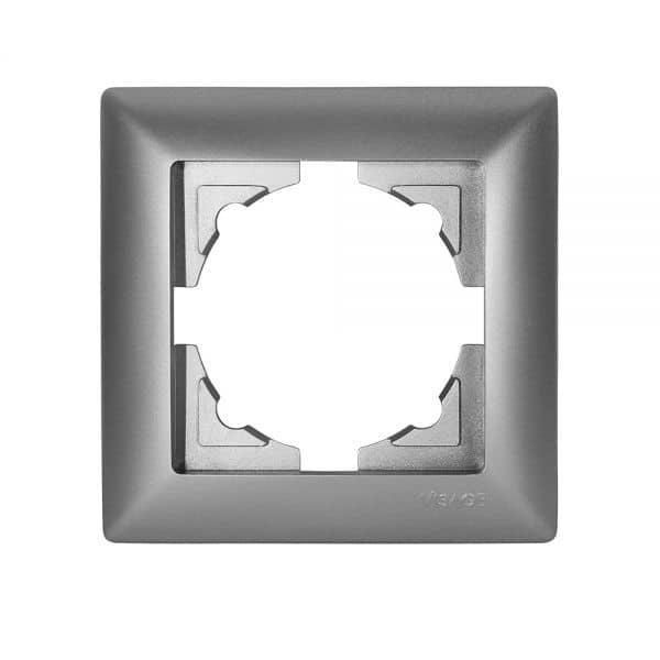 gunsan visage 1 fach rahmen f r 1 steckdose schalter dimmer silber 01281500000140 8697372382616. Black Bedroom Furniture Sets. Home Design Ideas